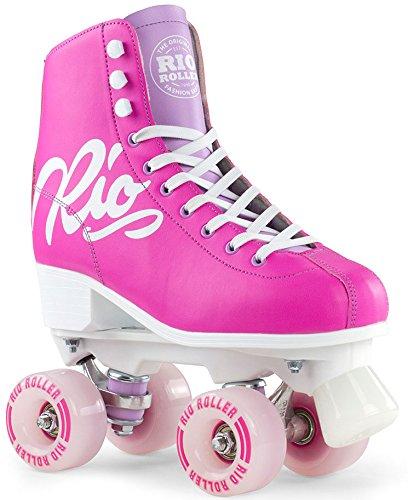 Rio Roller Roller Skates Script Pink/Lilac