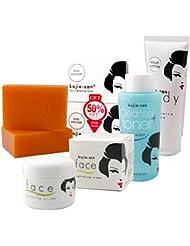 Kojie San Total Skin Lightening Set - Soap, Lotion, Facial Cream & Toner
