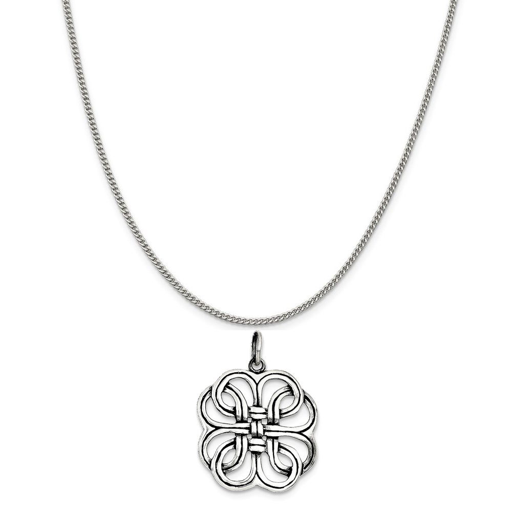 16-20 Mireval Sterling Silver Celtic Charm on a Sterling Silver Chain Necklace