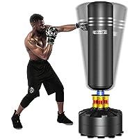 Dripex Sac de Frappe sur Pied Adulte Sac de Box Lourd Stable Kickboxing Bon Cadeau d'adulte ou d'adolescent