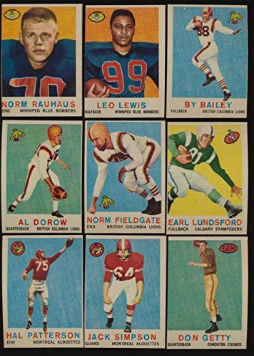 1959 Topps CFL Football EX avg complete 88 card set centering 52168