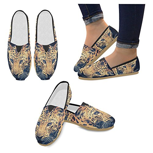 InterestPrint Womens Loafers Classic Casual Canvas Slip On Fashion Shoes Sneakers Flats Multi 23 YqgTd5