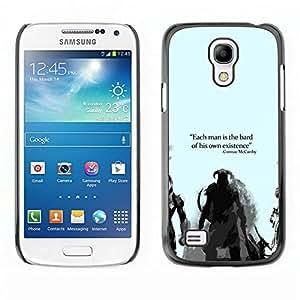 All Phone Most Case / Oferta Especial Duro Teléfono Inteligente PC Cáscara Funda Cubierta de proteccion Caso / Hard Case Samsung Galaxy S4 Mini i9190 // Bard Or Existence - Cormac Mccarthy - Dragonborn