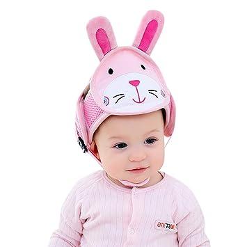 Protector de Cabeza para ni/ños Transpirable Casco de Seguridad para beb/é Amarillo KAKIBLIN Gorro de Seguridad Ajustable para Aprender a Caminar