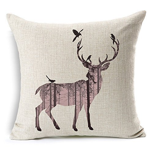 aumey-simple-cotton-linen-square-throw-flax-pillow-case-decorative-cushion-cover-deer-antlers-elepha