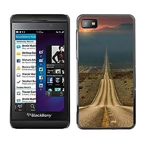 Be Good Phone Accessory // Dura Cáscara cubierta Protectora Caso Carcasa Funda de Protección para Blackberry Z10 // Road Freedom Sunset Open Drive
