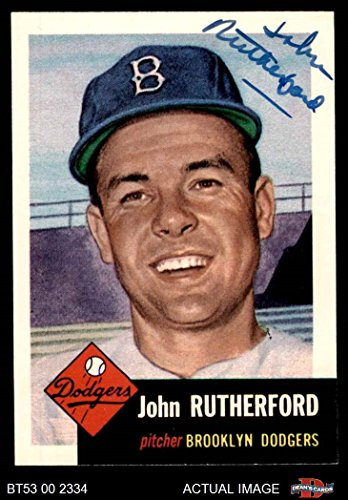 1953 Topps Archives # 137 John Rutherford Brooklyn Dodgers (Baseball Card) Dean