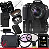 Canon EOS Rebel T3i 18 MP CMOS Digital SLR Camera w/ 18-55mm IS II and Canon EF 75-300mm f/4-5.6 III Telephoto Zoom Lens Package 3, Best Gadgets