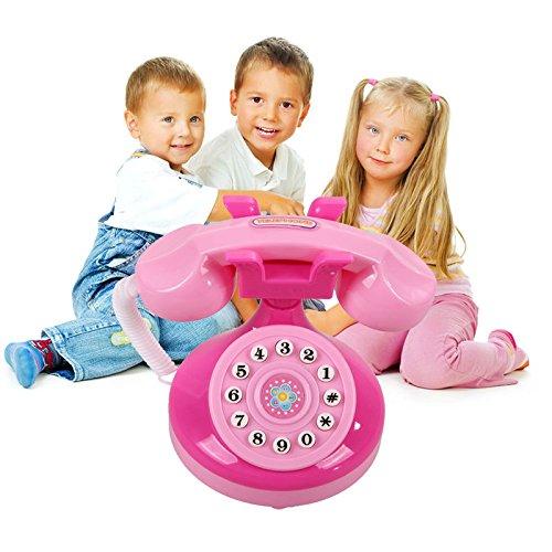 GreenSun TM Cute Mini Simulated Flashing Toy Phone Fun Pink Lighting Phone Toy Baby Girls Educational Play House Pretend Play Toy
