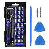 63 en 1 Juego de Destornilladores - kit Conductor Magnético 56 Bits Mini Set con Múltiples Funciones Precisión Herramientas Profesional para Teléfono Móvil/Tableta/PC/Mac Book/Cámara y Reloj - kit de Herramientas de Reparación de la Electrónica(Azul)