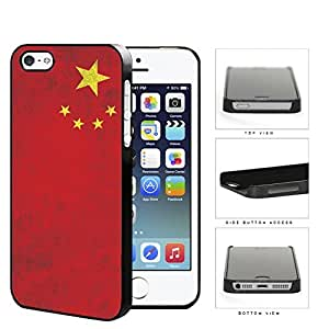 China Flag Red with Yellow Stars Grunge Hard Snap on Phone Case Cover iPhone i5 5s