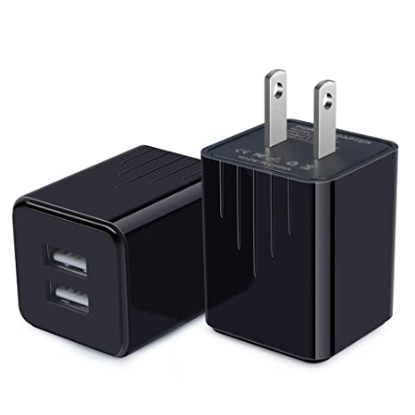 Amazon.com: AndHot - Cargador de pared USB, 2,1 A, doble ...