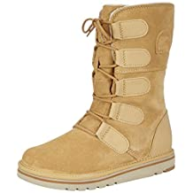Womens Sorel The Newbie Lace Fur Lined Snow Winter Rain Warm Suede Boots