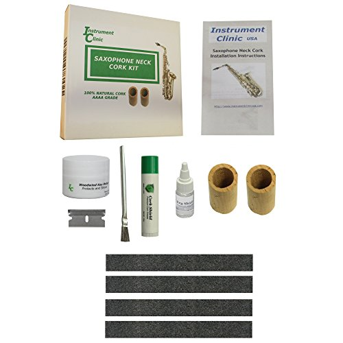 Cork Cement - Instrument Clinic Seamless Alto Saxophone Cork Kit, Maintenance Items