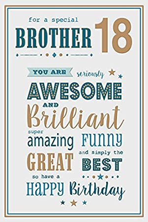 Brother 18th Birthday Card Amazon Kitchen Home