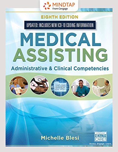 MindTap Medical Assisting, 4 terms (24 months) Printed Access Card for Blesi's Medical Assisting: Administrative & Clinical Competencies (Update)