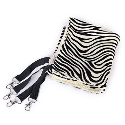 HVTKL ShowlingPet Cat Kitty Hammock Bed Animal Hanging Cage (Strisce di Zebra