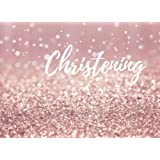 Christening Guest Book: Pink Message Book | Keepsake | 100 Pages With Gift Log & Pattern Border | Use At Christenings, Baptisms, Naming Ceremony, Baby Dedications | Small | Soft Back Cover