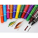 FidgetFidget Marker Fly Tying Set Waterproof 12 Colors ;C60201
