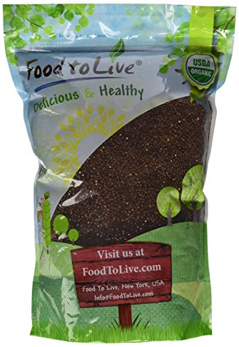 Organic Red Quinoa by Food to Live (Kosher, Bulk)  5 Pounds