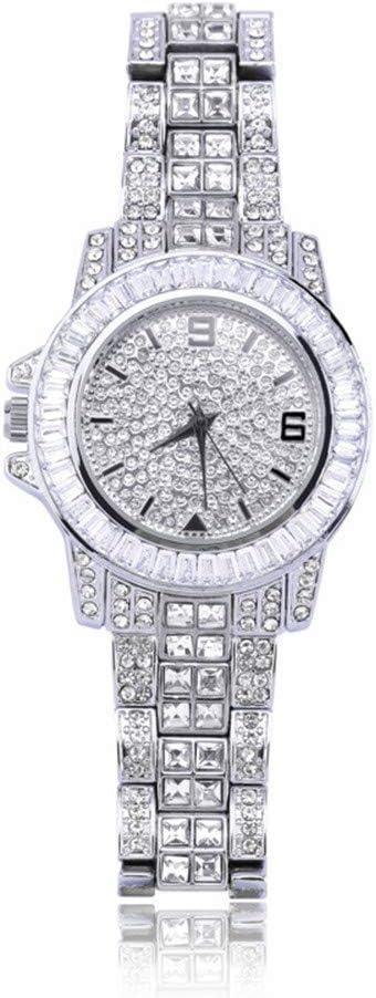 XXZZ Montres pour Homme, Montres Full Diamond Trendy