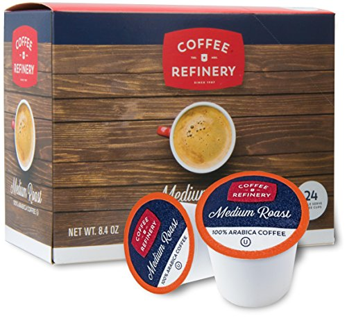 Coffee Refinery Average Roast Arabica Coffee 24 Coffee Pods Compatible with All Keurig Pods and K Cup Coffee Makers Kosher Certified