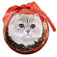 Adorno navideño de gato persa, bola de prueba de rotura fácil de personalizar, un regalo perfecto para los amantes del gato persa