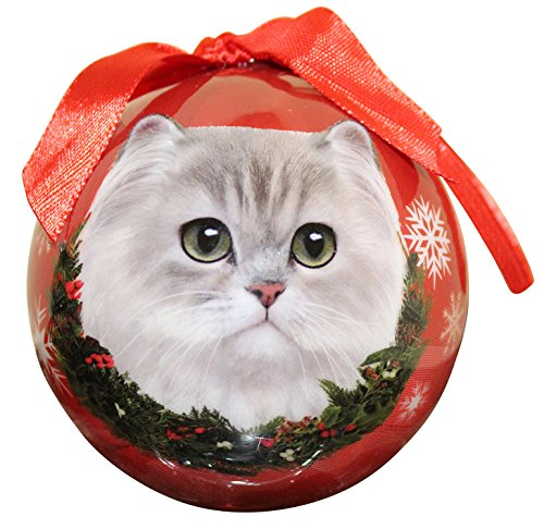 (Persian Cat Christmas Ornament Shatter Proof Ball Easy To Personalize A Perfect Gift For Persian Cat Lovers)