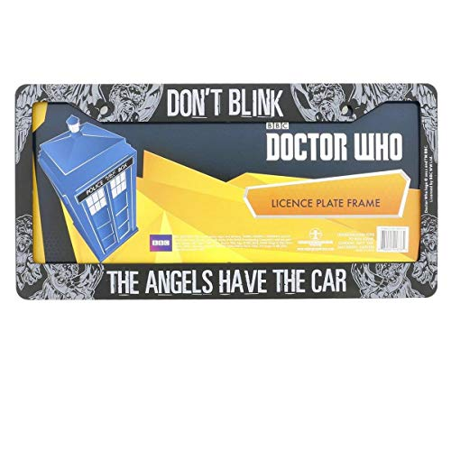 Doctor Who License Plate Frame - Don't Blink Weeping Angel Design 6.25