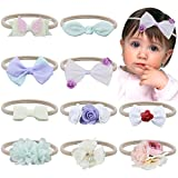 Cheap Baby Flower Headband,Fascigirl 10 Pcs Nylon Hairband Hair Bows Elastic Headwrap for Babies Toddlers Girls