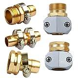 Garden Hose Repair Kit,Connector,Adapter,Heavy Duty Male / Female Hose Mender