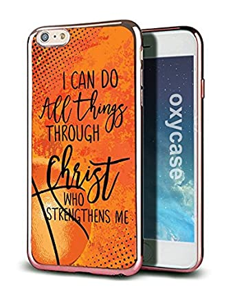 IPhone 8 7 Case Cover Basketball I Can Do All Things Through Christ Who