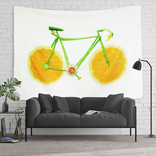 Huge Fruit (Tapestry Wall Tapestry WallHangingTapestries Lemon Bicycle Tapestry Creative Vegetable Tapestry Huge Fruit Tapestry Wall Blanket Wall Decor Wall Art Home Decor (59.1