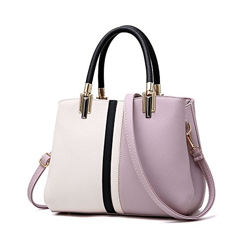 - Nevenka Purses and Handbags for Women Top Handle Bags Leather Satchel Totes Shoulder Bag from (Purple)