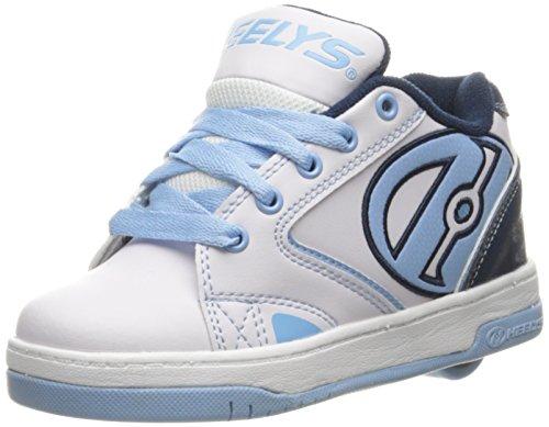 Powder Blue Kids Shoes (Heelys Propel 2.0 Skate Shoe (Little Kid/Big Kid) (13 Little Kid M, White/Navy/Powder Blue))
