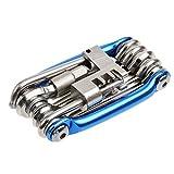 PGMJ All-in-1 Bike Multitool Pocket Bike Tool Kit Multi Repair Tools Kit Wrench Bike Repair Tools (Blue)