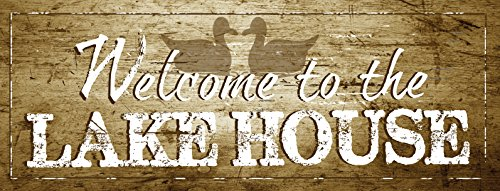 Welcome to the Lakehouse Metal Sign, Rustic Country Living, Family Room, Bar, Den Decor