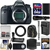 Canon EOS 6D Digital SLR Camera Body with 500mm Telephoto Lens + 64GB Card + Backpack + Battery & Charger + Grip + Monopod Kit Advantages Review Image