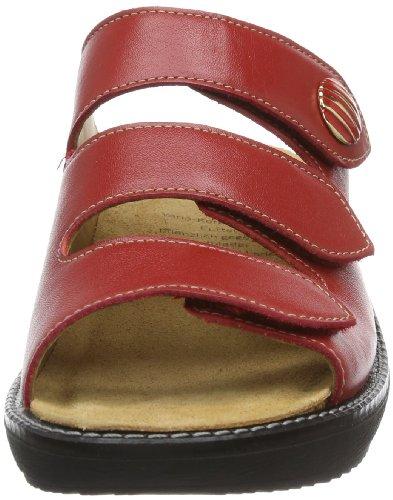 Ganter Gracia Weite G 7-209227-41000 - Zuecos de cuero para mujer, color rojo, talla 36 Rojo (Rot (rosso 4100))