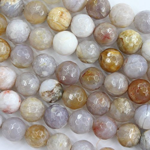 - Natural Genuine Australian Ocean Agate round Gemstone Jewelry Making Loose Beads (faceted 10mm)