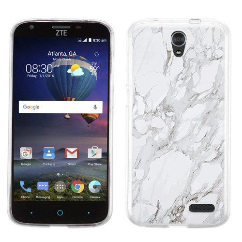 factory authentic 0f561 46313 ZTE Warp 7 case - [White Marble] (Crystal Clear) PaletteShield Soft  Flexible TPU gel skin phone cover (fit ZTE Warp 7/ Grand X3/ Z959)