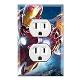 Duplex Wall Outlet Plate Decor Wallplate - Iron Man Superhero