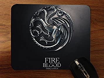 Game of the Thrones Winter is coming Stark Mouse Pad//Mouse Mat Rectangle by ieasycenter