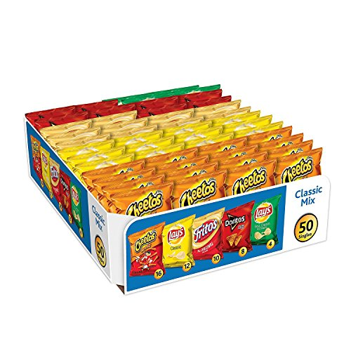 Frito-Lay Flavor Variety Pack, 50 Ounce (Box Classic Mix Chips)