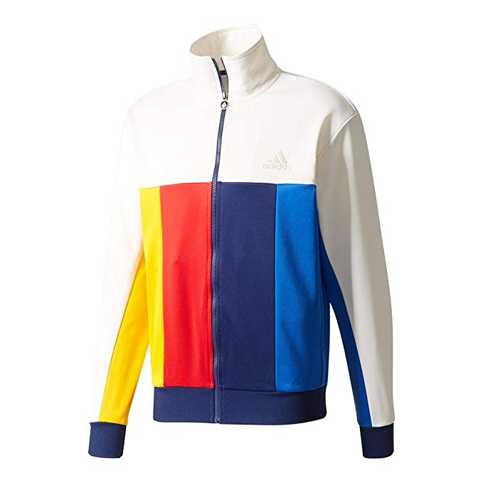 954a3dac61c2 Image Unavailable. Image not available for. Color  adidas-Men`s New York  Pharrell Williams Tennis Jacket Chalk White-(190305373029