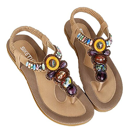 Shoes Flops Gladiator Sandles Mujer Zapatos Beige platform Women Flip Beach Bohemia Sandals Ladies Shoes IxwpYXq