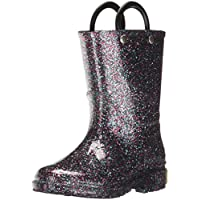 Western Chief Girls Glitter Rain Boot, Multi, 11 M US Little Kid
