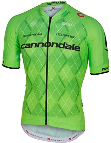 Cannondale Castelli Team 2.0 Full Zip Jersey - Closeout Medium Green
