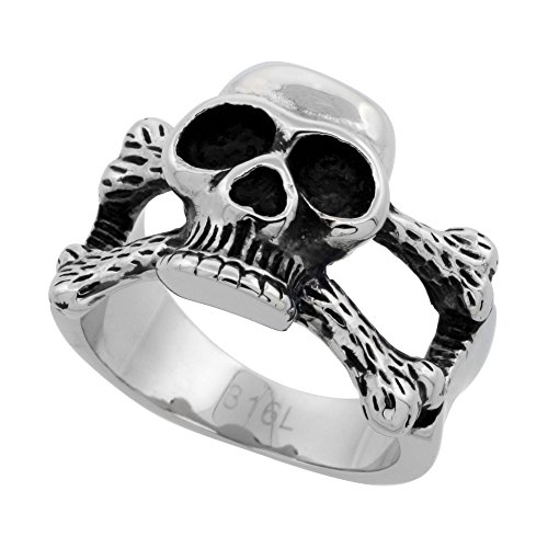 Stainless Steel Skull Cross Bones