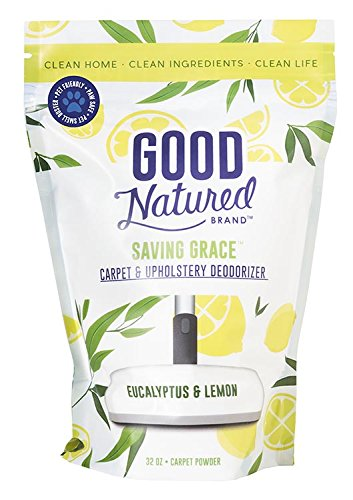 Good Natured Brand The Best All-Natural Pet-Friendly Eco-friendly Saving Grace Carpet & Upholstery Deodorizer, 32 oz. (Best Pet Friendly Carpet)